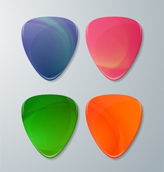 Set of Guitar Picks vector