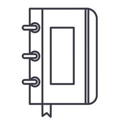 sketchbooknotebook line icon sign vector image