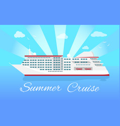spacious luxury cruise liner big red steamer vector image