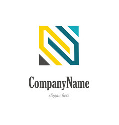 square letter n company logo vector image