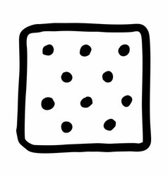 square salty cracker vector image