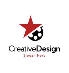 Star cinema movie entertainment creative business vector