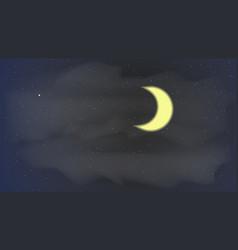 Stars sky night vector
