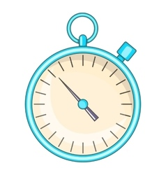 Stopwatch icon cartoon style vector image