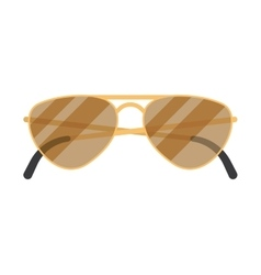 sun glasses on white background vector image