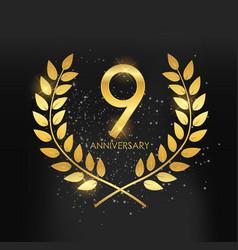 Template logo 9 years anniversary vector