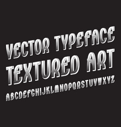 Textured art typeface white contrasting font vector
