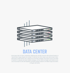 thin servers flat vector image