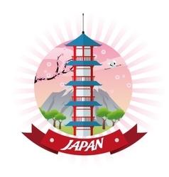 Tower japan culture design vector