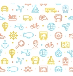 Travel and Transportation Background Pattern vector image