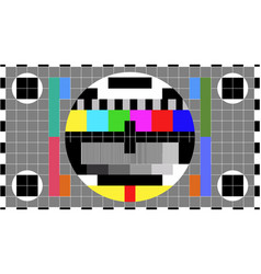 Tv colour bars test card screen smpte television vector