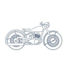 Vintage motorcycle logo design template vector