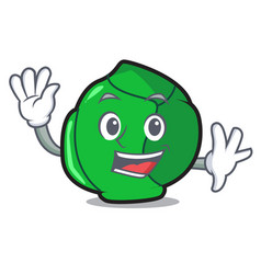 Waving brussels character cartoon style vector