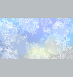 winter background snowflakes vector image
