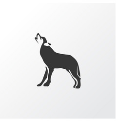 Wolf icon symbol premium quality isolated husky vector