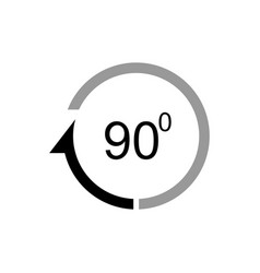 angle 90 degrees icon vector image
