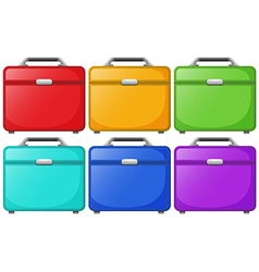 Colorful bags for travelling vector image