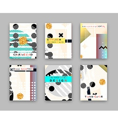 Fashionable original cover Stylish business card vector image vector image