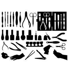 manicure and pedicure elements vector image vector image