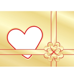 present wrapper with valentine vector image vector image
