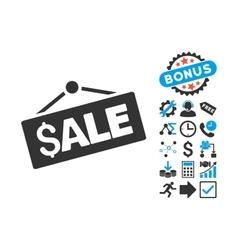 Sale Signboard Flat Icon with Bonus vector image
