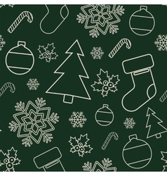 Seamless winter pattern Christmas background vector image vector image