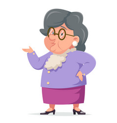 talking wise grandmother old woman granny vector image
