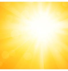 Yellow sun background vector