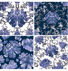 floral seamless background flower pattern vector image vector image