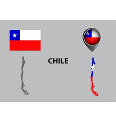 Map of Chile and symbol vector image