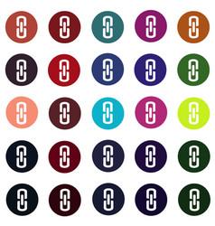 Set of link connection buttons - internet website vector