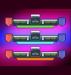 soccer or football score vector image