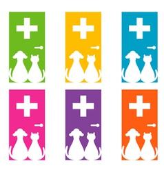veterinary logo vector image vector image