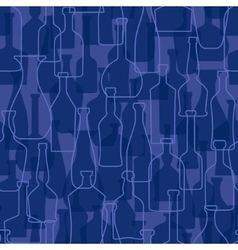 bottles seamless pattern background vector image