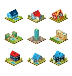Private House 3d Isometric vector image vector image