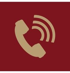 The phone icon phone symbol flat vector