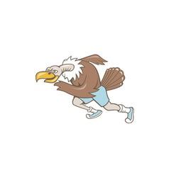 Vulture Buzzard Runner Running Cartoon vector image vector image