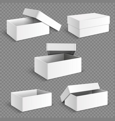 blank white packaging paper box with transparent vector image