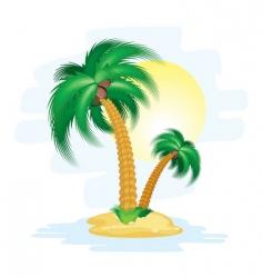 Cartoon island vector