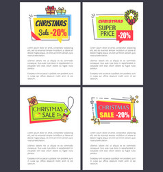 christmas super price poster vector image