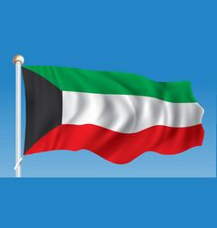 Flag of kuwait vector
