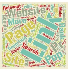 How link pop affects your website s page rank text vector