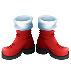 red santa boots symbol of accessory christmas vector image vector image