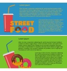 Street food banner vector