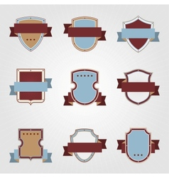 Vintage heraldry shields and ribbons retro style vector image vector image