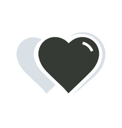 2 heart icon vector