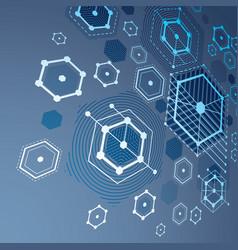 3d bauhaus abstract blue background made vector