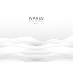 abstract white waves background and texture vector image