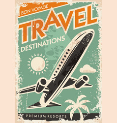 airplane graphic on travel brochure vector image