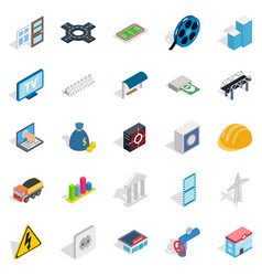 Banking technology icons set isometric style vector